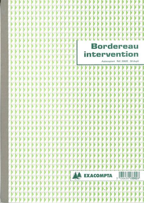 bureau douane carnet de bon d 39 intervention carbonné contenant 50