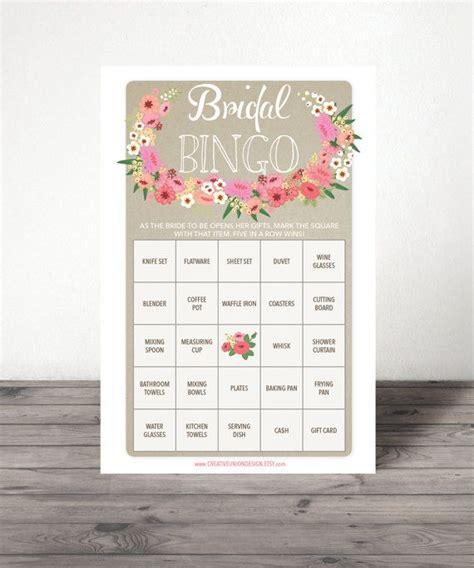 25 best ideas about bridal shower bingo on pinterest