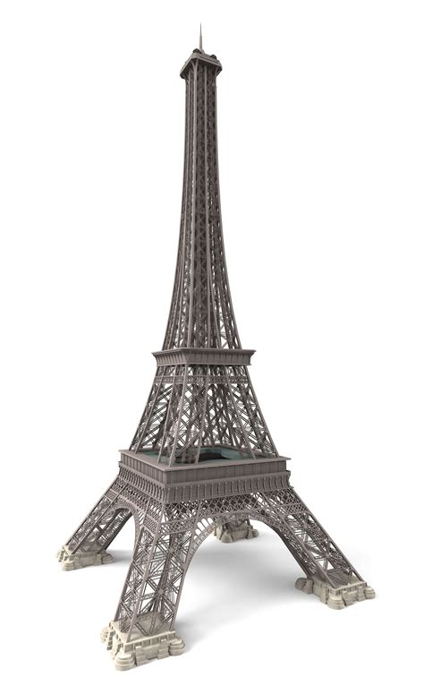 Eiffel Tower Paris 3d Model 3ds C4d Dae Skp Cgtradercom