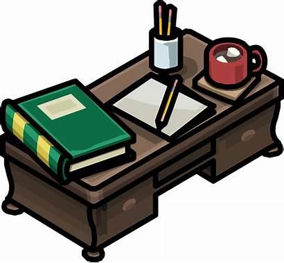 Desk Profesor Teacher Icono Icon Escritor Escritorio