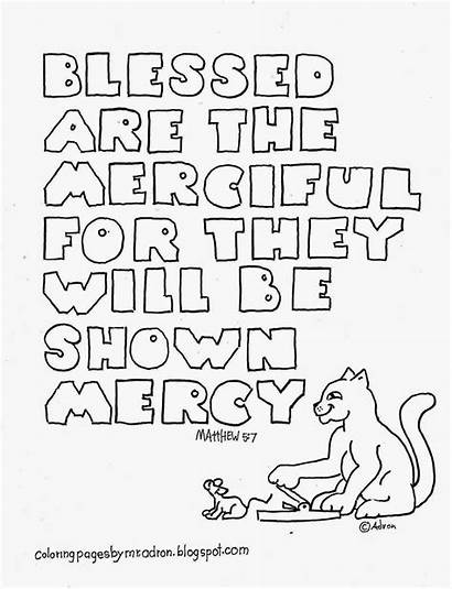 Coloring Blessed Pages Merciful Matthew Beatitudes Bible