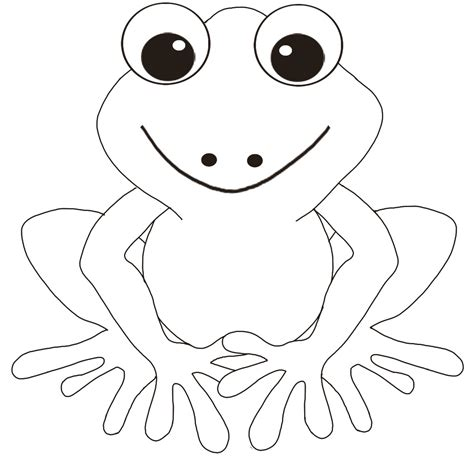 frog template free printable frog coloring pages for
