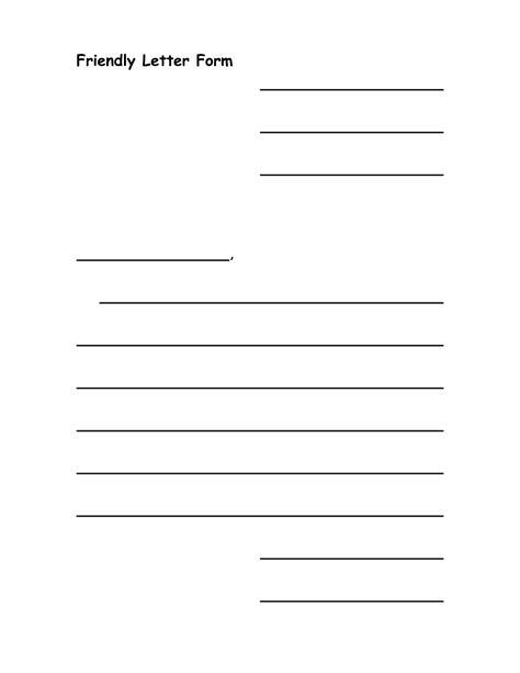letter writing template 7 best images of printable friendly letter writing template writing friendly letter template