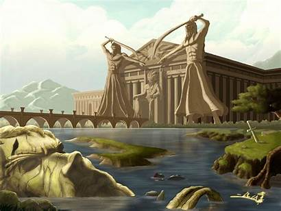 Greece Ancient Greek Backgrounds Wallpapers Fantasy Raging
