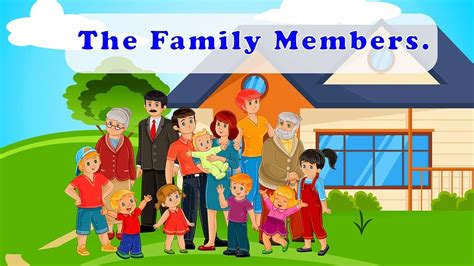learn family relations names english words  family
