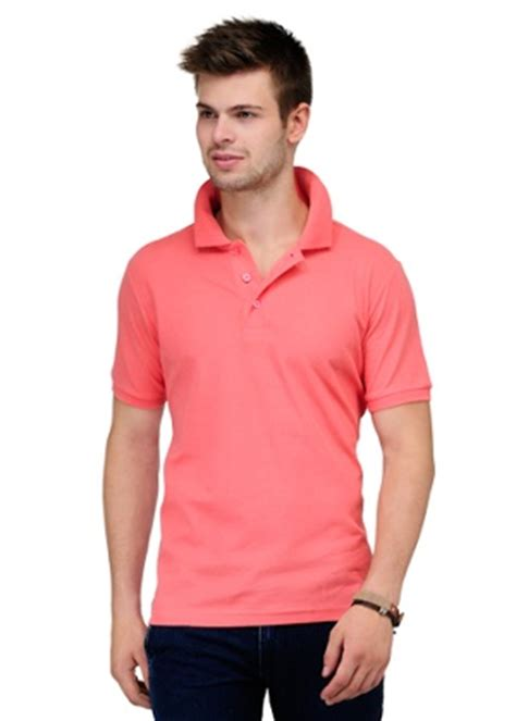 yepme men polo  shirt shell pink homeshopcom