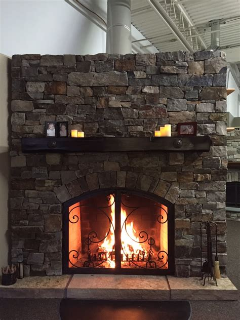 rustic fireplace designs mason lite  masonry fireplace industries