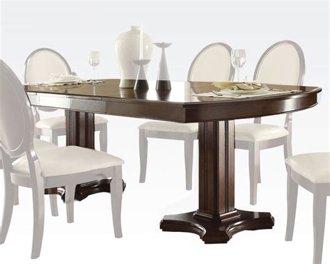 formal contemporary dining table balint by acme furniture