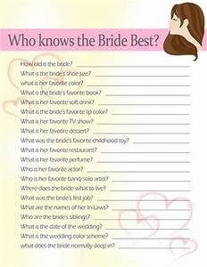 1000 ideas about bridal shower questions on pinterest With popular wedding shower games