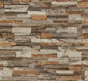 Tapete Steinoptik 3d : p s origin 42106 10 tapete vlies stein optik 3d braun beige creme 2 39 1qm ~ Frokenaadalensverden.com Haus und Dekorationen
