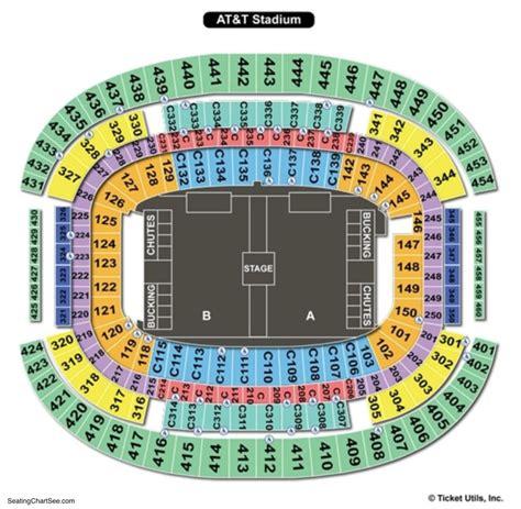 att stadium seating chart seating charts