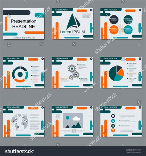 slides brochure template professional business presentation slide show brochure stock vector 387729397