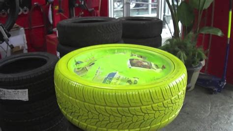 Hillyard Custom Rim & Tire Yellow Tire Coloured Tire How