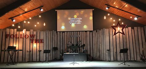 boarded  church stage design ideas