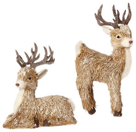 Deer Ornaments (Set of 2)   Farmhouse   Christmas Ornaments   Atlanta   by Iron Accents