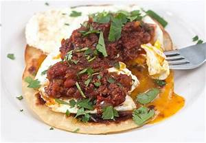 Huevos Rancheros With Chorizo Recipe — Dishmaps