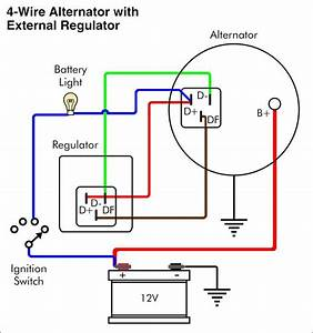 Car Alternator Wiring Diagram Delco Gm 2 Wire To 4 10si