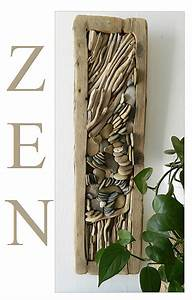 Tableau En Relief : un tableau en relief zen au fil de l 39 eau bois flott ~ Melissatoandfro.com Idées de Décoration