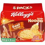 Noodles Kellogg Instant Beef Kelloggs 70g Flavoured