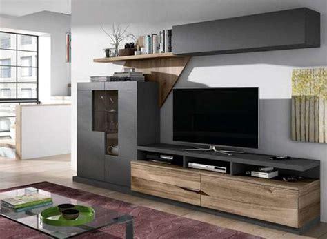 salon moderno  muebles oscuros gran capacidad almacenamiento
