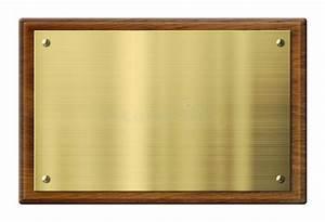 Plaque De Metal : plaque en bois avec la plaque de m tal de laiton ou d 39 or illustration stock illustration du ~ Teatrodelosmanantiales.com Idées de Décoration