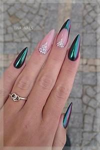 25 shiny chrome nails mirror nail designs