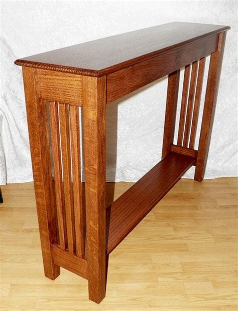 arts and crafts sofa table console sofa table quarter sawn oak arts crafts mission inspired custom size 26 color