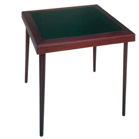 folding wood table home depot cosco 32 in x 32 in square wood vinyl mahogany folding