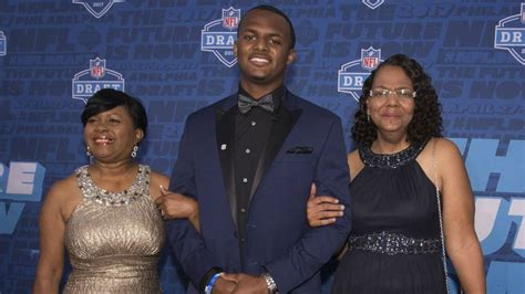 nfl draft  deshaun watsons momma brings son  tears