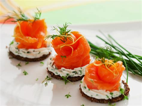 canape link salmon canapes recipes dishmaps