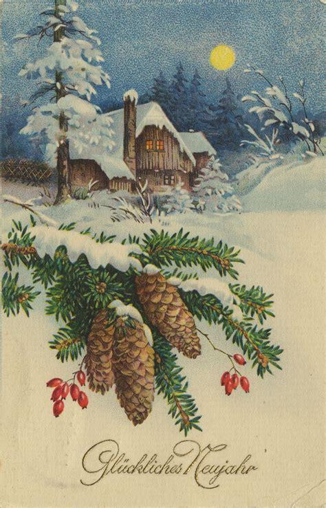 neujahrsgruesse winterliche doerfer huette im schnee zenoorg