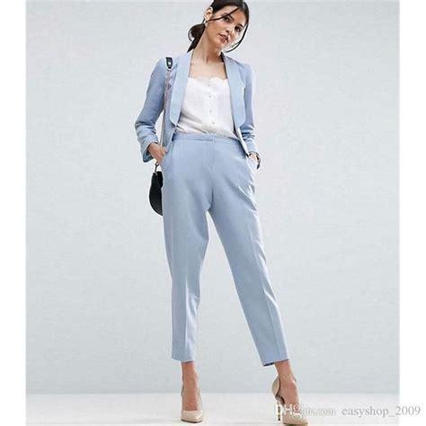 light blue suit womens 2018 light sky blue women business suits formal office