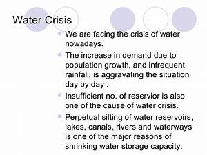 Water storage essay
