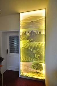 Lampe Indirektes Licht : bedruckte spanndecke als lichtwand im flur flur decke ~ A.2002-acura-tl-radio.info Haus und Dekorationen