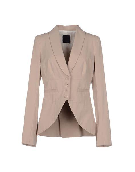light pink blazer pinko blazer in pink lyst