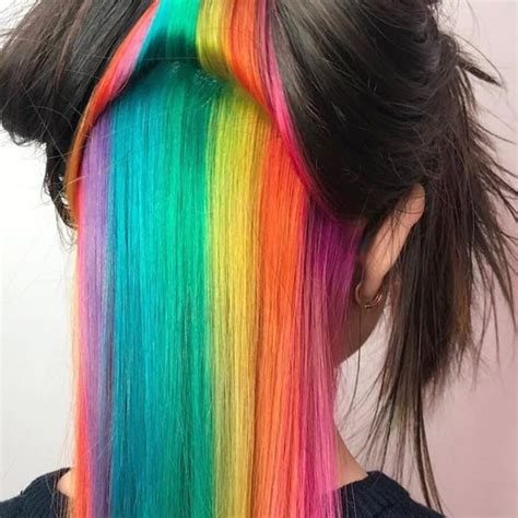 Black Hair Coloring by 97 Cool Rainbow Hair Color Ideas To Rock Your Summer