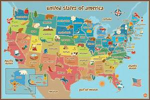 Amazon com: Wall Pops WPE0623 Kids USA Dry Erase Map Decal