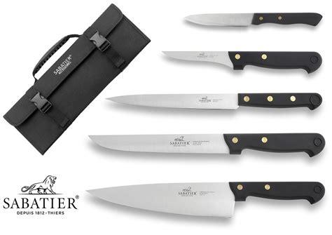sabatier kitchen knives sabatier knife bag with 5 kitchen knives 100