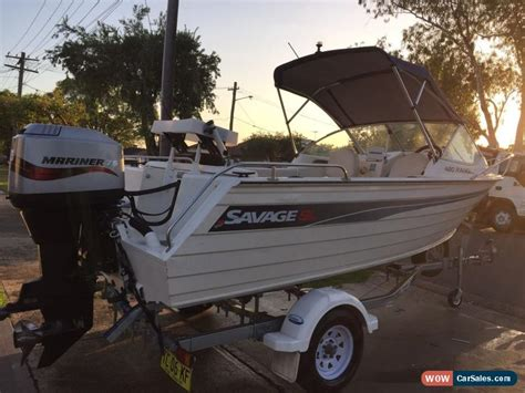 Savage Ranger Boats For Sale by Savage Ranger 480 Sl 2004 Runabout Aluminium Boat No
