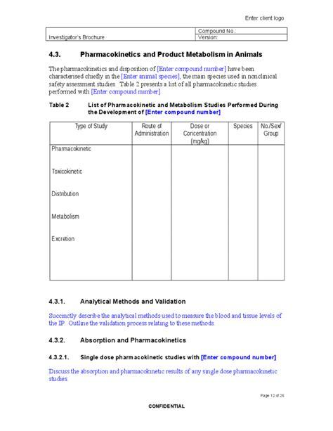 8 Blank Brochures Sle Templates Investigator Brochure Teacheng Us