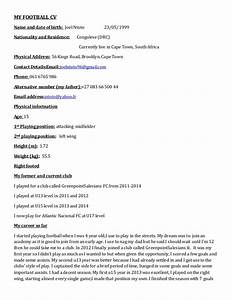 my football cv With football cv templates free