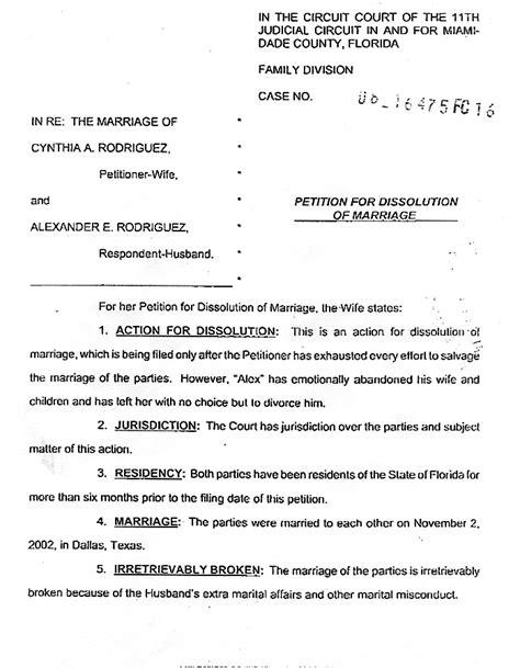 petition for legal separation form kentuckypractice test for the cogat levels 13 14 form 7 alex rodriguez divorce filing the smoking gun