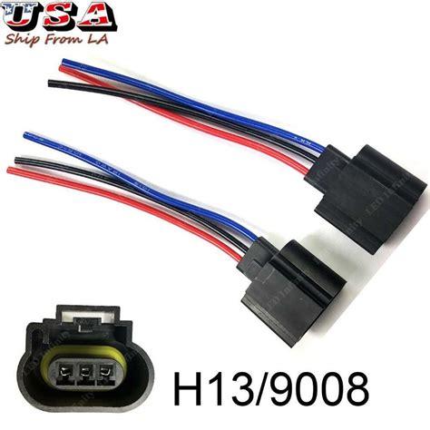 Hd Headlight Wiring Harnes by H13 9008 Wiring Harness Led Headlight Socket
