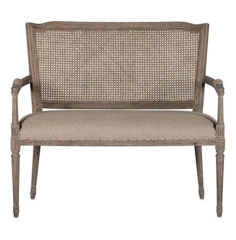 Country Settee by Country Ethan Caned Back Dining Arm Settee Kathy