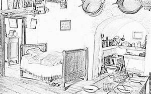 Dessin Intérieur Maison : coloriage interieur paysan quercy 1 imprimer pour les enfants dessin france lot ~ Preciouscoupons.com Idées de Décoration