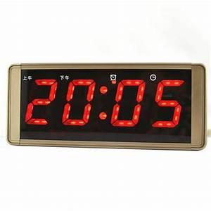 Horloge Murale Led : alarme horloge num rique horloge murale horloge affichage de la temp rature lumineuse ~ Teatrodelosmanantiales.com Idées de Décoration