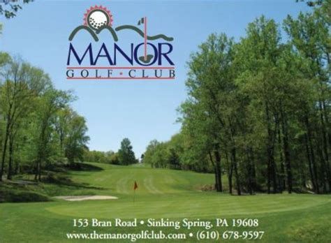 sinking springs pa 19608 manor golf course in sinking pennsylvania