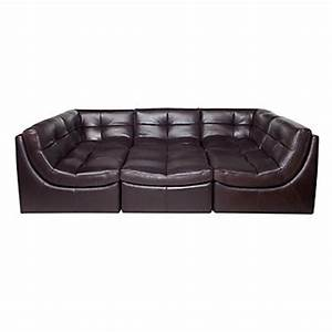 Modular sectional sofa in brown cloud collection z for Cloud sectional sofa z gallerie