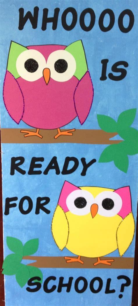class door owl classroom school stuff pinterest