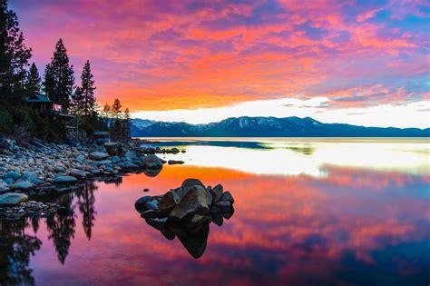 reflective sunset lake tahoetwnjlo  utopian lvh